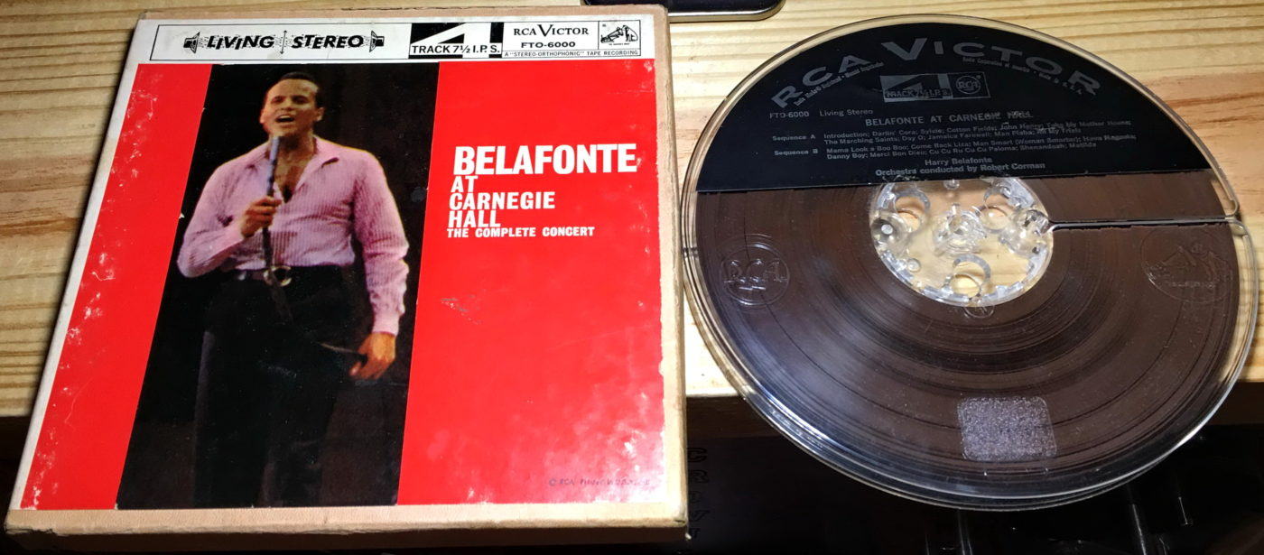 RCA Victor - Prerecorded Tape - Harry Belafonte - At Carnegie Hall