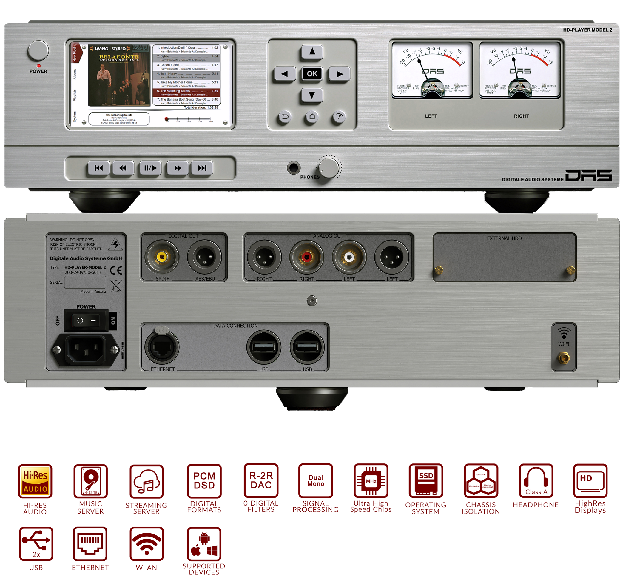 DAS HD-Player Model 2 front and back